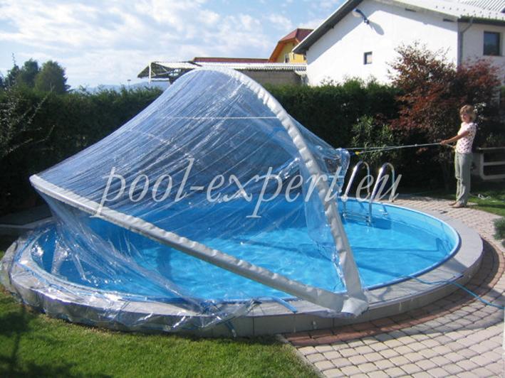 Ordinaire Cabrio Dome For Round Pools Ø 460 Cm